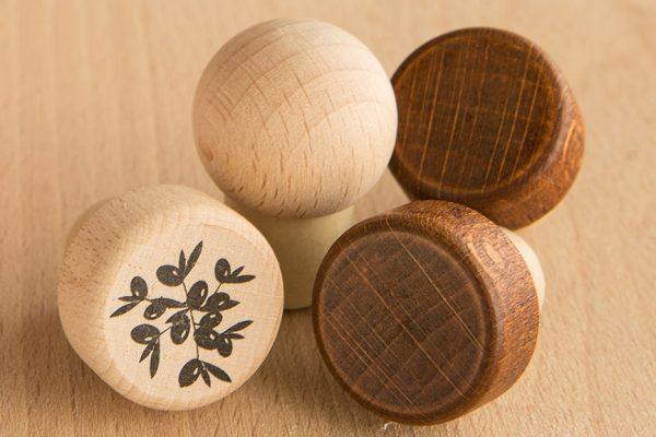 thetis pack πώμα συνθετικό με ξύλινη κεφαλή wooden head synthetic cap