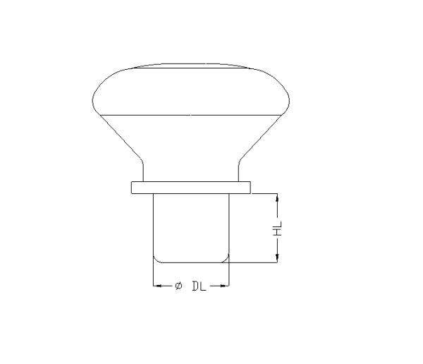 thetis pack τεχνικό σχέδιο πώματος γυάλινη κεφαλή technical drawing