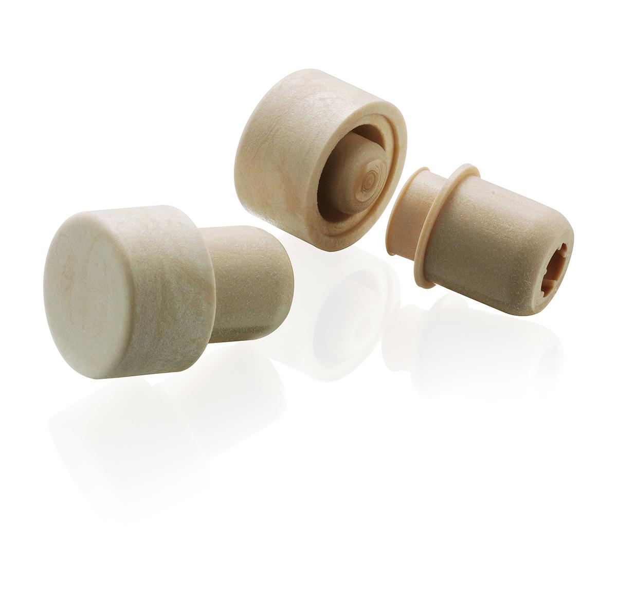 thetis pack πώμα συνθετικό με δείκτη ροής wooden head synthetic cap versatore pourer
