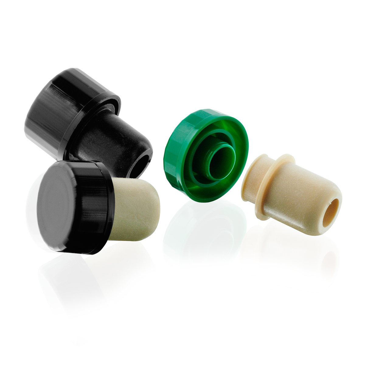 thetis pack πώμα με πλαστική κεφαλή συνθετικό με δείκτη ροής wooden head synthetic cap versatore pourer