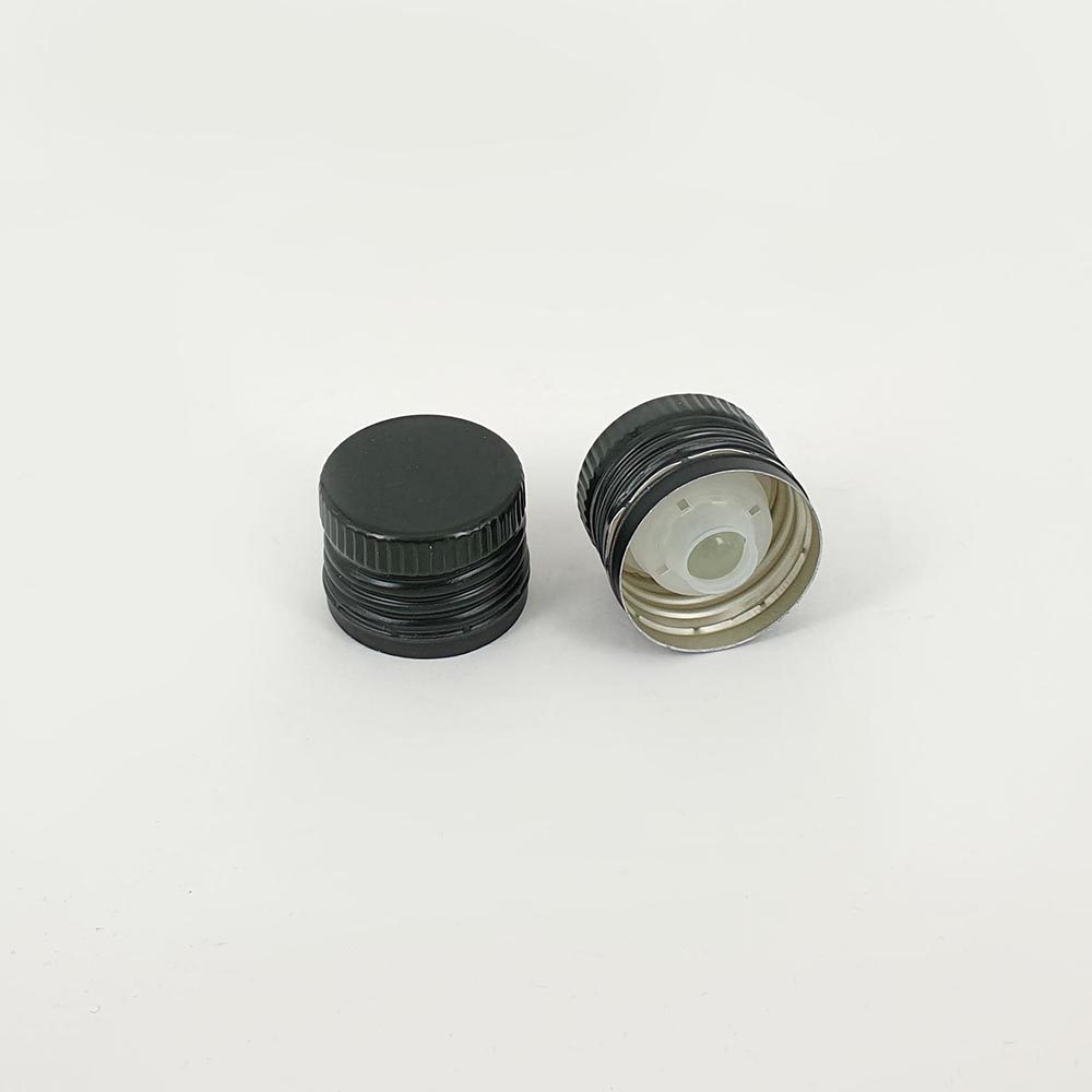thetis pack πώμα αλουμινίου προβιδωμένο λάδι με βαλβίδα ασφαλείας aluminum screw cap oil non refillalble