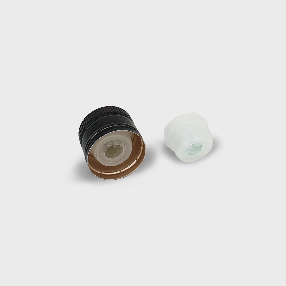 thetis pack πώμα αλουμινίου με βαλβίδα ασφαλείας aluminum screw cap versatore pourer non refillable oil vinegar vega