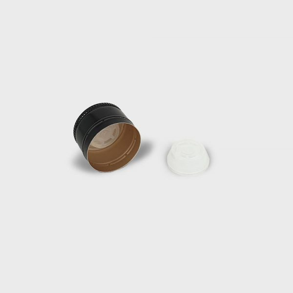 thetis pack πώμα αλουμινίου με δείκτη ροής για ξύδι και αλκοολούχα ποτά aluminum screw cap versatore pourer oil vinegar alcoholic beverage